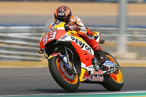 Marquez heads Honda 1-2 on second Thailand test day
