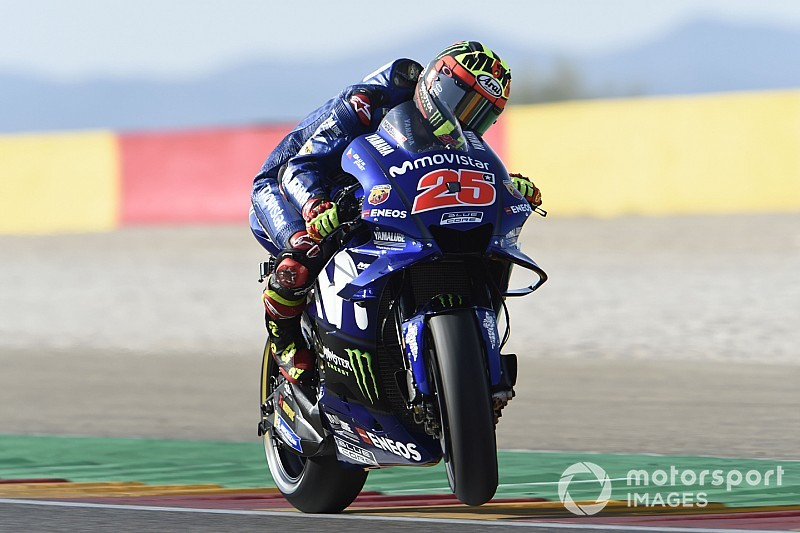 Nessuna Yamaha nelle prime quattro file ad Aragon: Vinales penalizzato, arretra 14esimo