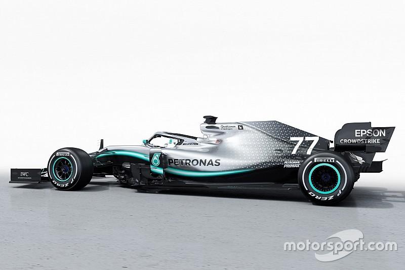 Fotogallery: la Mercedes W10 non ha la livrea camouflage, ma è comunque cambiata