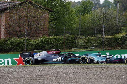 Mercedes: Hamilton perdía 0.5 segundos con su alerón roto en Imola