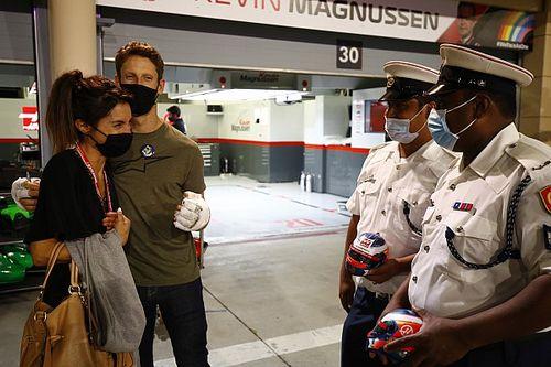 """Grosjean dankt brandweerlieden voor """"redden van mijn leven"""""""