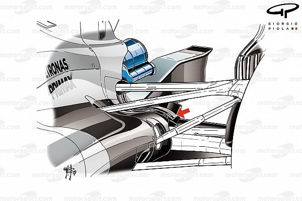 Formel-1-Technik: Mercedes und die Kühlung am F1 W08