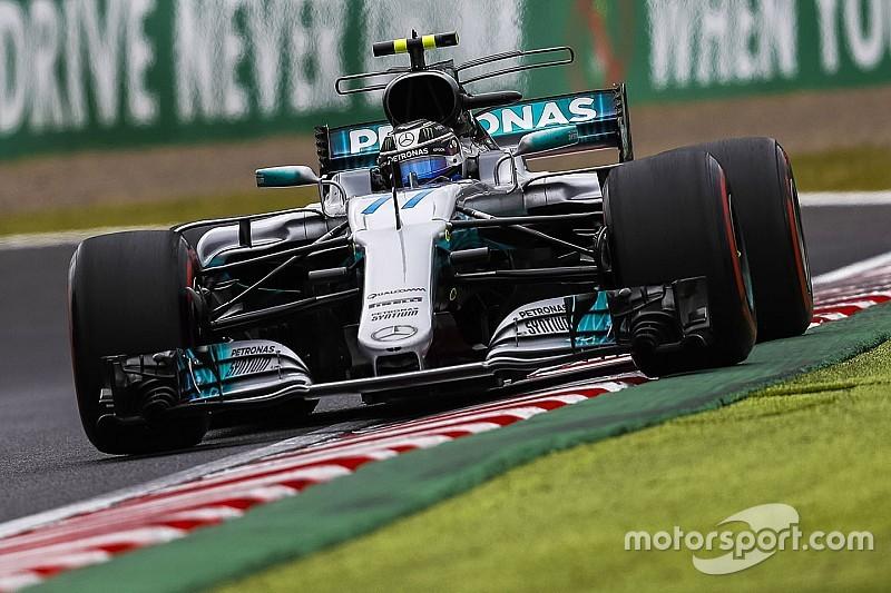 日本大奖赛FP3:博塔斯用软胎设下标杆,但中途撞墙