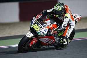 MotoGP Réactions Crutchlow dans le trio de tête malgré un roulage limité