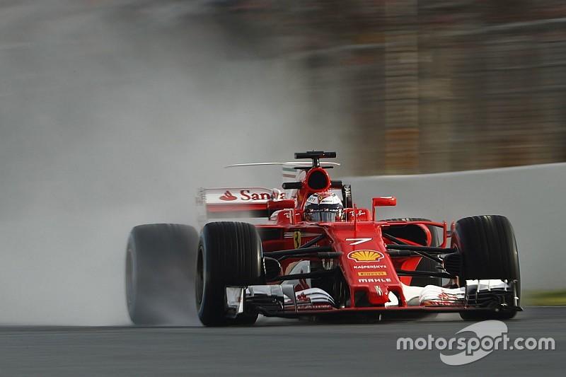 Barcelone, J4 - Räikkönen en tête de la journée pluie à midi