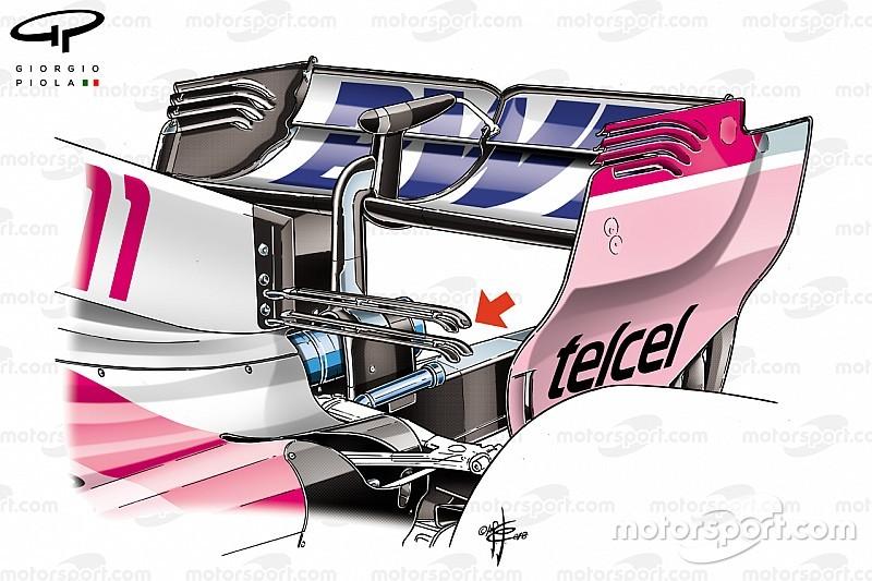 Dans les détails techniques des F1 à Singapour