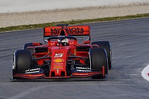 Vettel domineert eerste testdag van het jaar, vierde tijd Verstappen