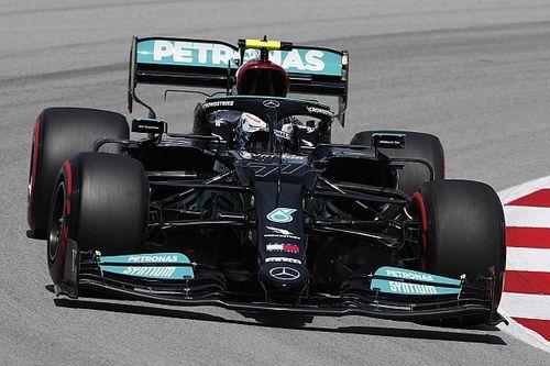 西班牙大奖赛FP1:博塔斯以0.033秒领先维斯塔潘居首