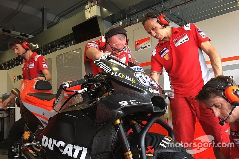Após teste, Dovizioso estranha nova carenagem da Ducati