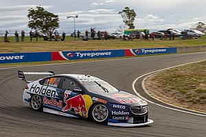 Supercars Qualifying report Tasmania Supercars: Van Gisbergen takes first new format pole