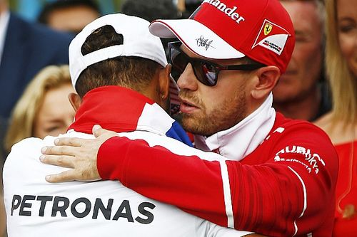 """Vettel says Hamilton was """"the better man and did the better job"""""""