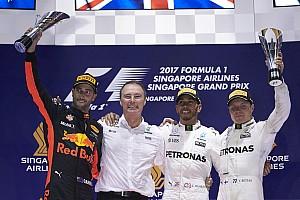 Formula 1 Race report GP Singapura: Hamilton berjaya, Vettel tersingkir dramatis