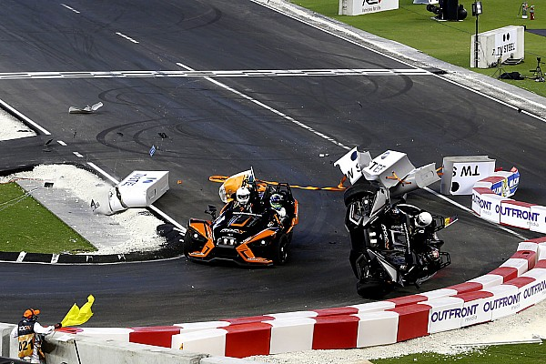 General Wehrlein unhurt in dramatic Race Of Champions flip