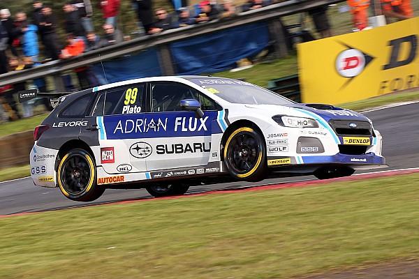 Knockhill BTCC: Plato wins Race 1 after last turn Subaru swap