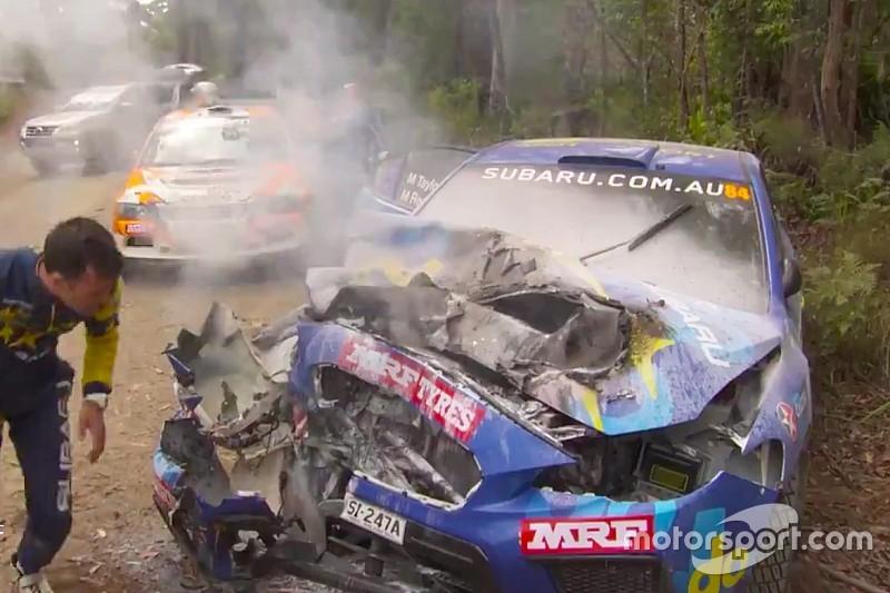 VIDEO: Un impactante choque en el Rally de Australia