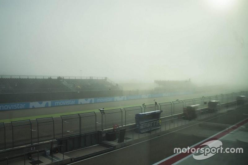 Aragon berkabut, jadwal Moto2-Moto3 berubah