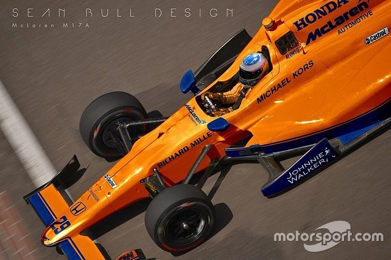 Дизайнер представил концепт ливреи машины Алонсо в Indy 500