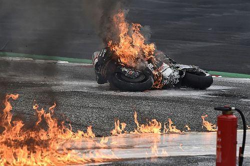 Styrian MotoGP: Race stopped after fiery crash involving Pedrosa