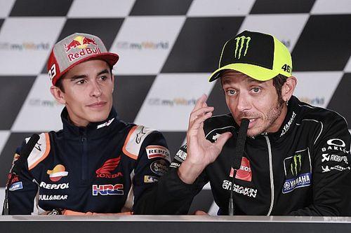 """マルケス、引退する""""宿敵""""ロッシに贈る言葉「彼のMotoGPでの功績は唯一無二」"""