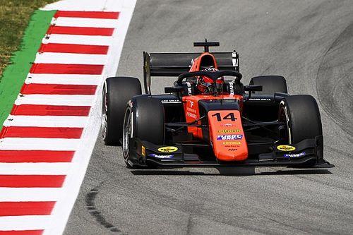 F2バルセロナレース1:松下信治、18番手スタートから驚異の大逆転優勝! 角田裕毅は4位