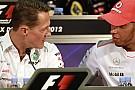 F1 Hamilton le envió un mensaje a Schumacher