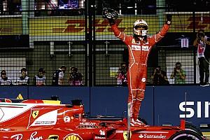 F1 Reporte de calificación Vettel se saca de la manga su tercera pole del año en Singapur