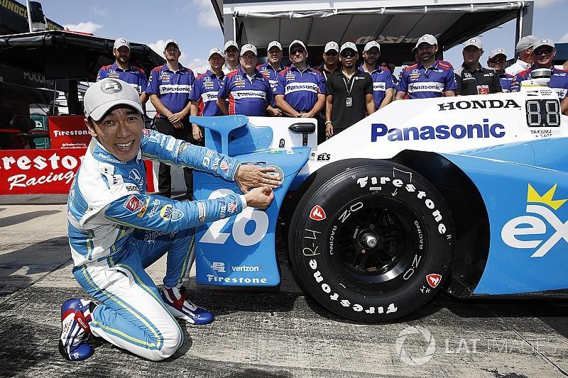 Pocono IndyCar: Sato takes pole as stars crash