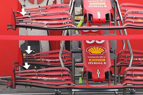 Ferrari: c'è un'ala anteriore con un ricciolo più grande