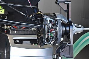 Mercedes: la presa dei freni ha già un condotto aerodinamico che alimenta l'outwash!