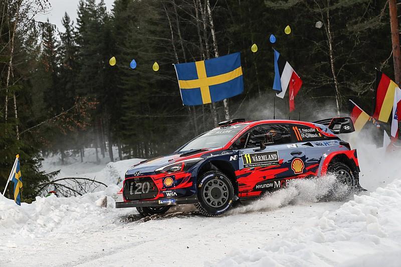 Neuville manda en el shakedown en Suecia