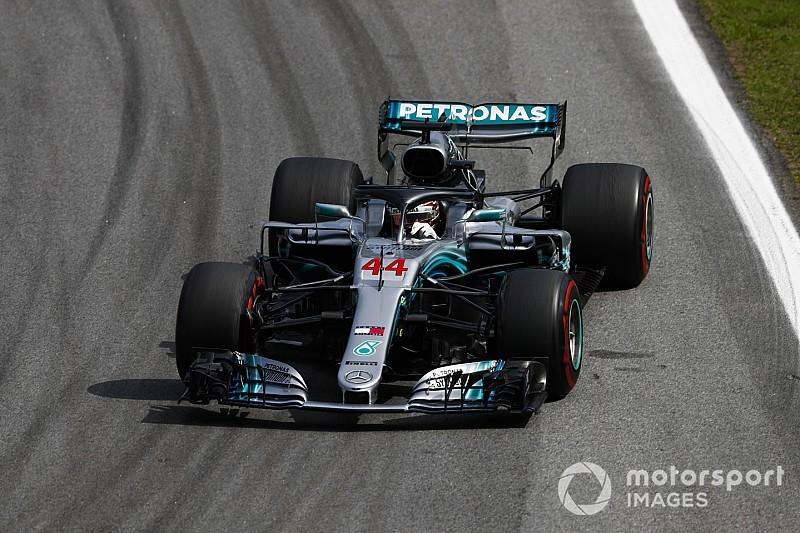 El motor de Hamilton estuvo a punto de fallar en Brasil
