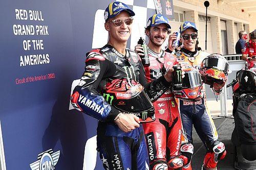 De volledige startopstelling voor de MotoGP Grand Prix van de Verenigde Staten