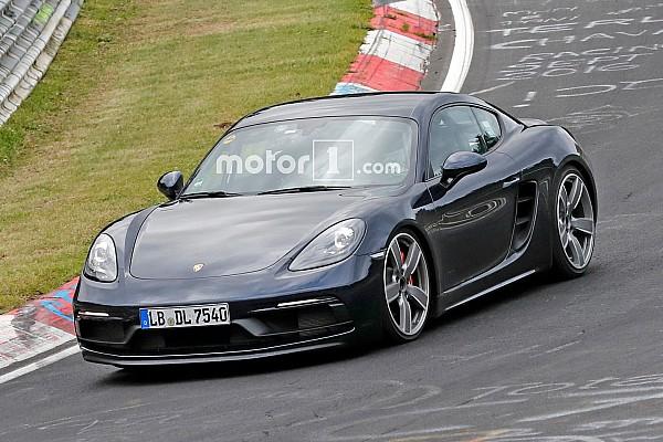 Automotive Breaking news Porsche 718 Cayman GTS spied undisguised on Nurburgring