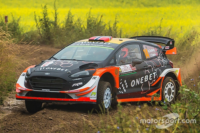 Ostberg parts company with co-driver Floene