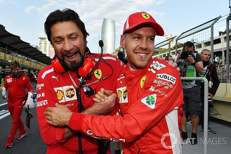 Vettel scoort derde achtereenvolgende pole in Baku, Verstappen vijfde