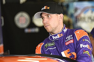 NASCAR Cup Practice report Denny Hamlin rockets to top of first Cup practice at Martinsville