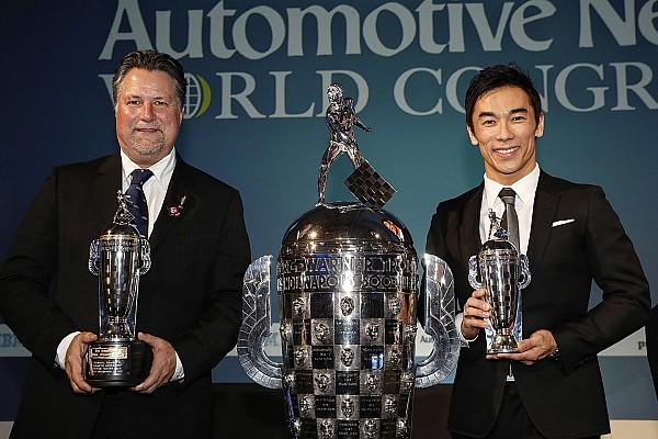 """Sato, Andretti receive their """"Baby Borgs"""" in Detroit"""