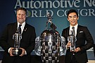 "IndyCar Sato, Andretti receive their ""Baby Borgs"" in Detroit"