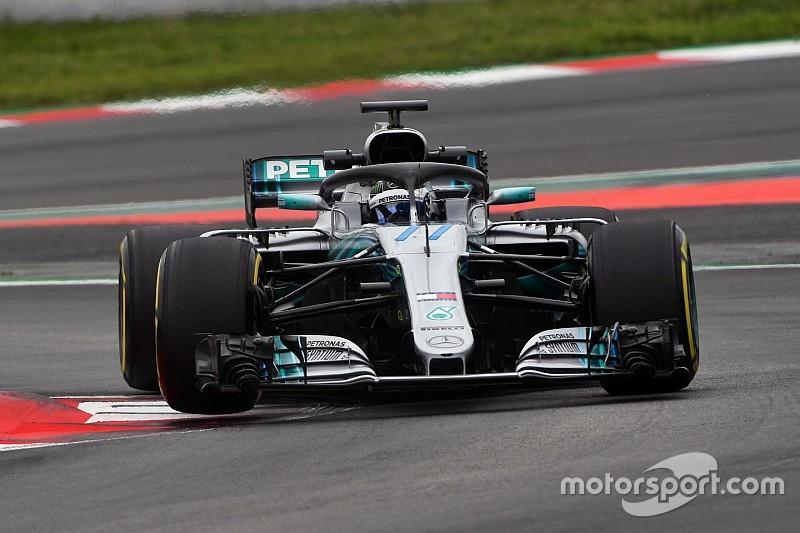 Bottas terminó al frente el test de la F1 en Barcelona