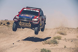 Dakar Interview Toyota drivers bullish about chances of toppling Peugeot