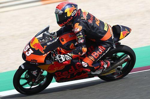 Moto3, Portimao, Libere 1: pozzanghere in pista, Oncu al top
