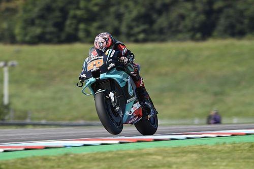 Quartararo niet blij, wel snelste in tweede training GP Tsjechië