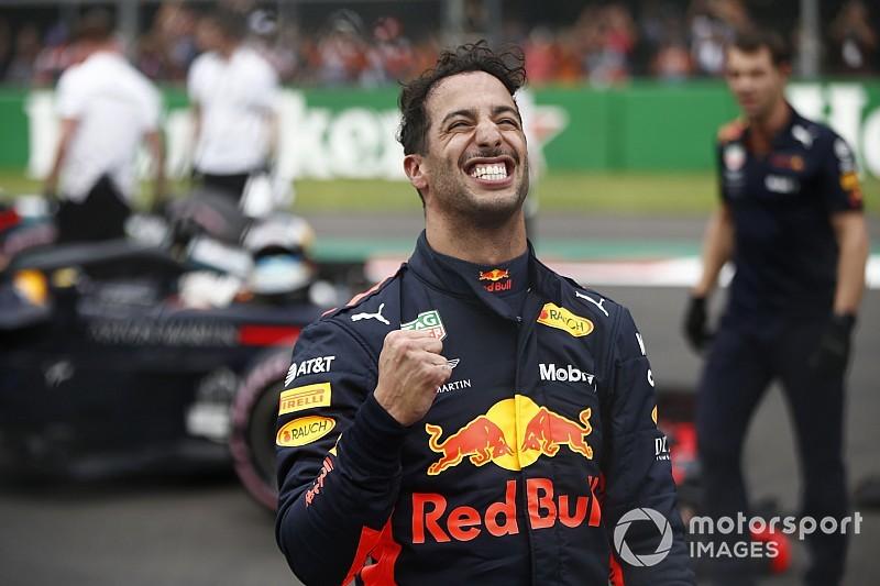 L'exubérance du poleman Ricciardo avait