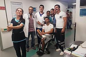 TÜRK SPORCULAR Son dakika 3. kattan havuza atlayan Kenan Sofuoğlu sakatlandı