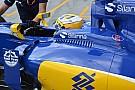 Sauber: doppia feritoia di sfogo dell'aria ai lati dell'abitacolo