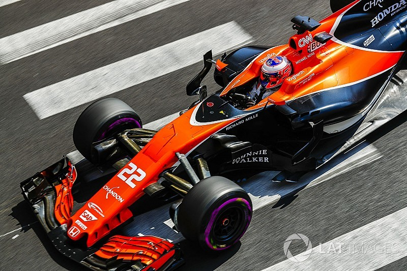 button admits finding limits of 2017 f1 cars proving tricky. Black Bedroom Furniture Sets. Home Design Ideas