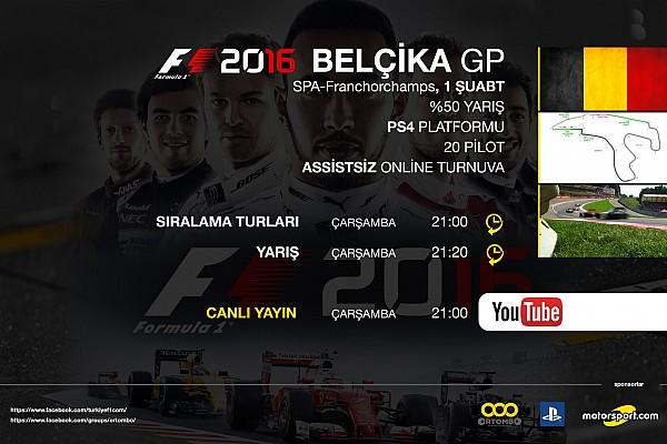 SİMÜLASYON DÜNYASI Son dakika F1 2016 online turnuva: Belçika GP - Canlı Yayın