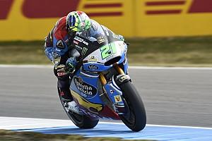 Moto2 Kwalificatieverslag Morbidelli pakt Moto2-pole in ontsierde sessie door zware crash Baldassarri