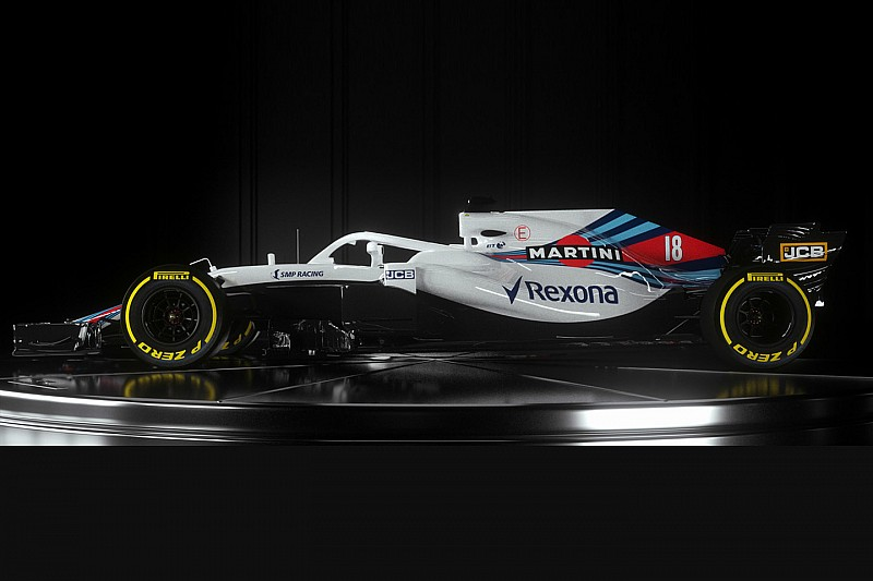 Compare os carros da Williams de 2017 e 2018