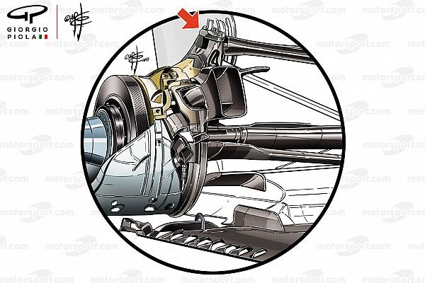 Formula 1 Animazione Mercedes: c'è il bracket anche sulla sospensione posteriore